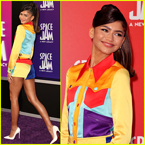 Zendaya Rocks a Colorful Outfit at 'Space Jam: Legacy' L.A. Premiere - See Red Carpet Photos!