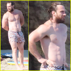 Aaron Taylor-Johnson Soaks Up the Sun During His Beach Day with Pals