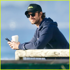 'Sex/Life' Star Adam Demos Enjoys the Views While Drinking His Morning Coffee In Australia