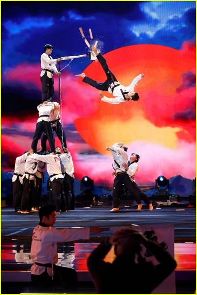 World Taekwondo Demo. Team on Americas Got Talent