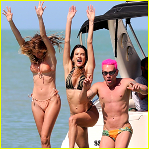 Alessandra Ambrosio Jumps Into The Water With Friends During A Beach Day!