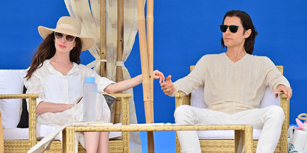 Anne Hathaway & Jared Leto head to the beach to film 'WeCrashed' with Kids – Bermuda News