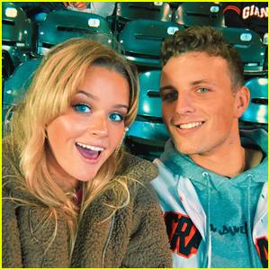 Ava Phillippe Enjoys Baseball Game Date with Boyfriend Owen Mahoney