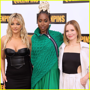 Bebe Rexha, Kirby Howell-Baptiste, & Kristen Bell Pose Together at 'Queenpins' Photocall in L.A.