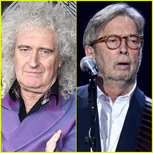 Queen's Brian May Calls Eric Clapton & Other Non-Vaxxers 'Fruitcakes'