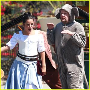 Camila Cabello Films 'Cinderella'-Themed Crosswalk Musical with James Corden - See Photos!