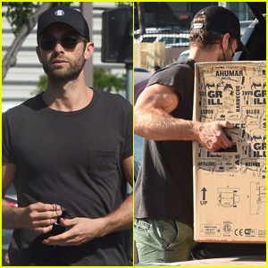 Chace Crawford Picks Up a Grill During Trip to Home Depot