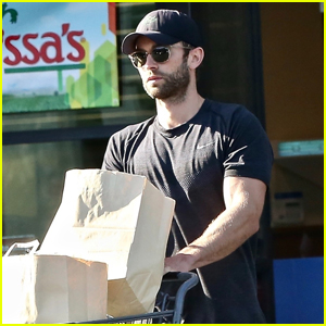 Chace Crawford Spends His Afternoon Stocking Up on Groceries