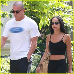 Channing Tatum & Zoe Kravitz Head Out on a Walk Around Central Park