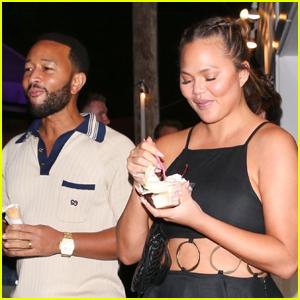 Chrissy Teigen & John Legend Step Out for an Ice Cream Date
