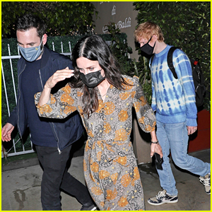 Ed Sheeran Joins Courteney Cox & Johnny McDaid For Dinner in LA