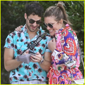 Darren Criss & Wife Mia Sport Colorful Outfits on Lunch Date in L.A.