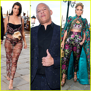 See Every Celeb Arrival from Dolce&Gabbana's Alta Moda Women's Show in Venice (Photos)