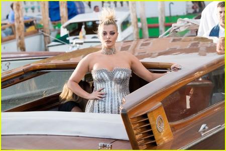 Bebe Rexha at the Dolce and Gabbana Alta Moda Show