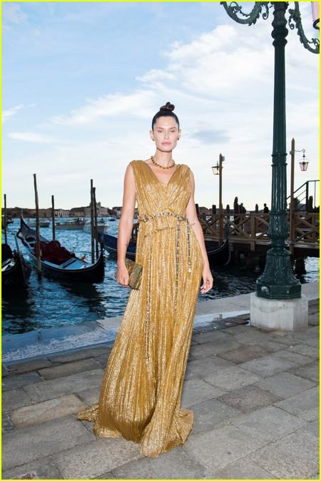Bianca Balti at the Dolce and Gabbana Alta Moda Show