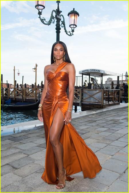 Ciara at the Dolce and Gabbana Alta Moda Show