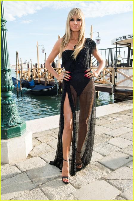 Heidi Klum at the Dolce and Gabbana Alta Moda Show