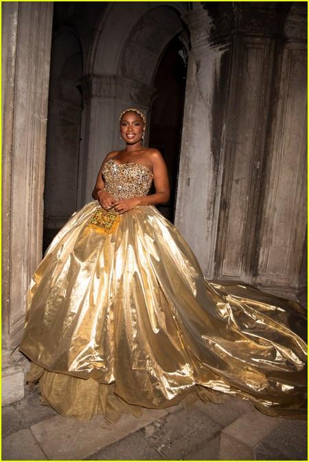 Jennifer Hudson at the Dolce and Gabbana Alta Moda Show