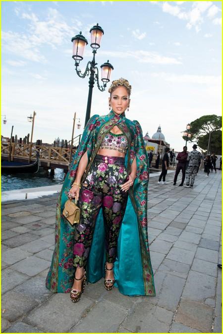 Jennifer Lopez at the Dolce and Gabbana Alta Moda Show