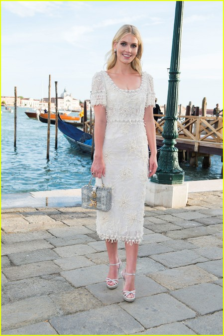 Lady Kitty Spencer at the Dolce and Gabbana Alta Moda Show
