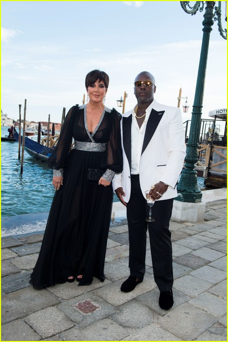 Kris Jenner and Corey Gamble at the Dolce and Gabbana Alta Moda Show