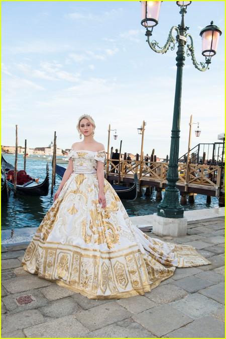 Maria Bakalova at the Dolce and Gabbana Alta Moda Show