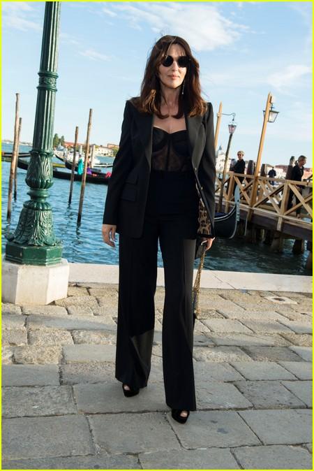 Monica Bellucci at the Dolce and Gabbana Alta Moda Show