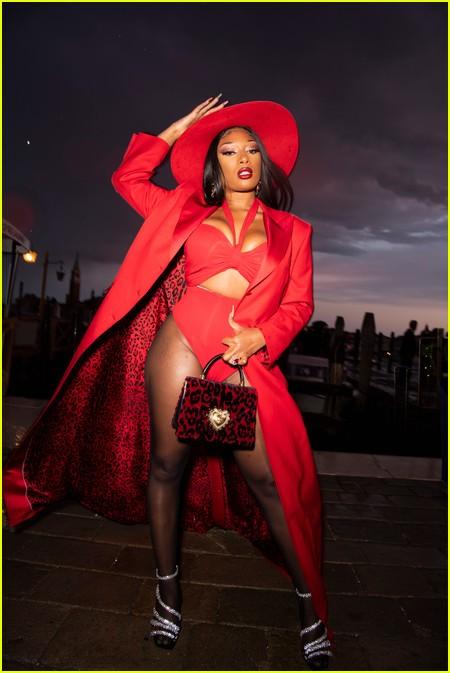 Megan Thee Stallion at the Dolce and Gabbana Alta Moda Show