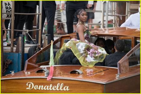 Normani at the Dolce and Gabbana Alta Moda Show