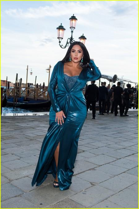 Vanessa Bryant at the Dolce and Gabbana Alta Moda Show