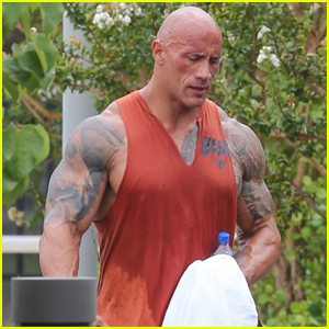 Dwayne Johnson is Drenched in Sweat After His Workout