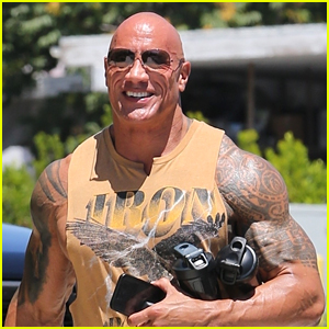 Dwayne Johnson Puts His Arm Tattoos On Display While Heading To A Workout