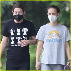 Ellen Pompeo & Natalie Portman Meet Up for Afternoon Hike!