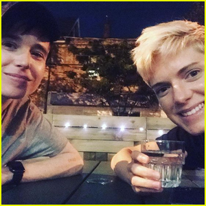 Elliot Page Gets Matching Tattoos with Pal Mae Martin!