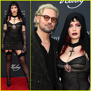 Halsey Makes Red Carpet Debut with Boyfriend Alev Aydin at IMAX Premiere of Her Film