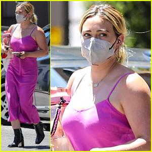Hilary Duff Runs Errands In The Chicest Pink Dress in LA