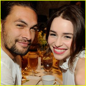 'Game of Thrones' Co-Stars Jason Momoa & Emilia Clarke Reunite!