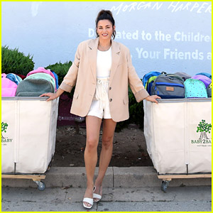 Jenna Dewan Helps Pass Out Backpacks Filled With Supplies at Baby2Baby Back To School Event