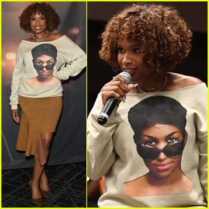Jennifer Hudson Wears Aretha Franklin Shirt to 'Respect' Screening in Atlanta
