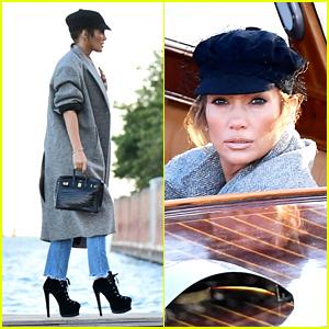 Jennifer Lopez Arrives in Venice Ahead of Dolce&Gabbana's Big Event