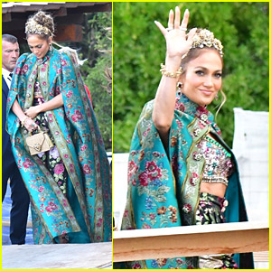 Jennifer Lopez Stuns In Gorgeous Floral Look On Her Way To Dolce & Gabbana's Fashion Event