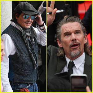 Johnny Depp & Ethan Hawke Arrive at Karlovy Vary Film Festival