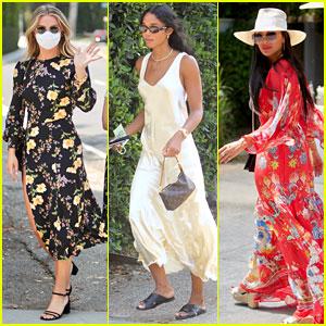 Julianne Hough, Laura Harrier, & Nicole Scherzinger Wear Chic Summer Outfits at the Day of Indulgence