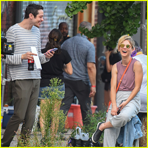 Kaley Cuoco Learns To Jump Over A Car On 'Meet Cute' Set With Pete Davidson