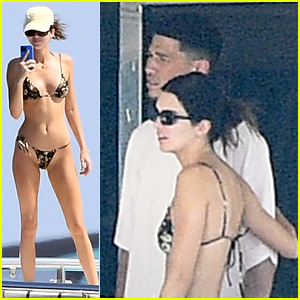 Kendall Jenner Photographed During a PDA-Filled Yacht Day with Boyfriend Devin Booker