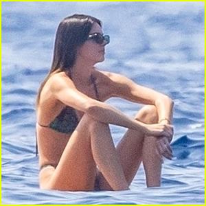 Kendall Jenner Soaks Up the Sun in Her Bikini During Italian Getaway with Boyfriend Devin Booker (Photos)
