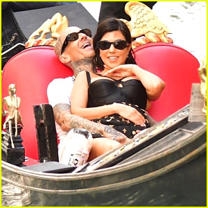 Kourtney Kardashian Cozies Up To Travis Barker On a Gondola Ride in Venice
