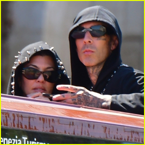 Kourtney Kardashian & Travis Barker Share Kissing Photos While on Vacation in Italy