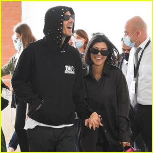Kourtney Kardashian & Travis Barker Cuddle Up in Venice