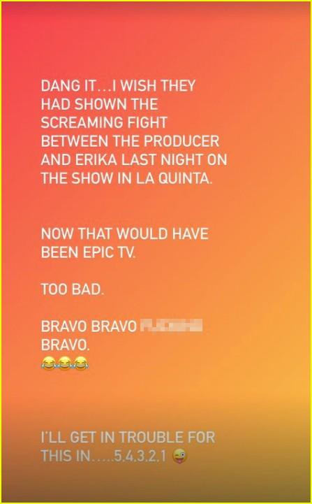 Lisa Rinna on Erika screaming